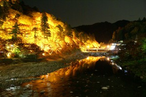ライトアップ香嵐渓